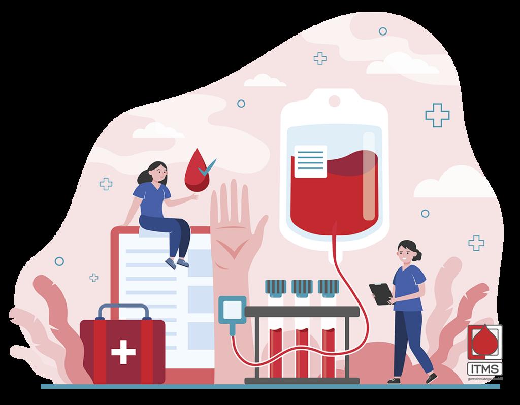 Krankenschwester Blutspende